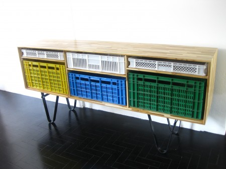 furniture designed to reuse shipping crates