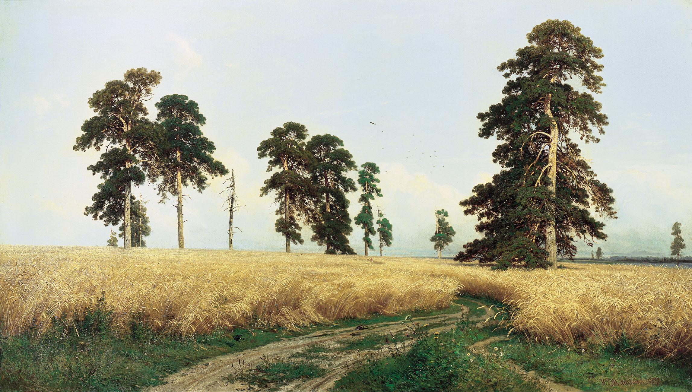 The Rye Field, Painting by Ivan Shishkin