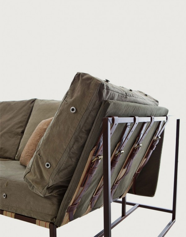 stephen kenn inheritance collection, upcycled army fabric cushions, reclaimed materials, design squish blog