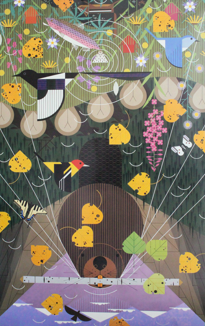 charley harper poster the rocky mountains
