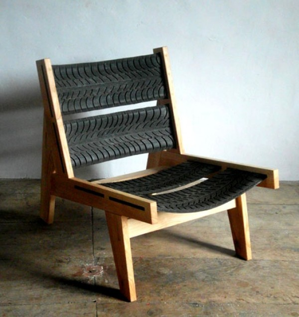 upcycle tire chair, design squish blog