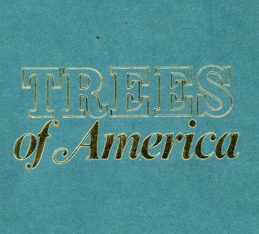 trees of america, book found in park slope, design squish blog