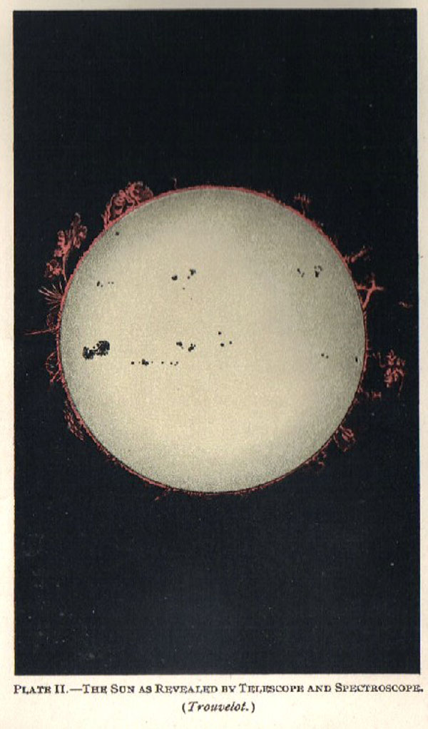 trouvelot astronomy sun as revealed by telescope