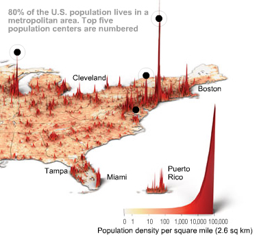 world population density map