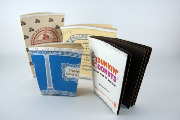 reclaimed coffee cup notebooks, new york city, design squish blog