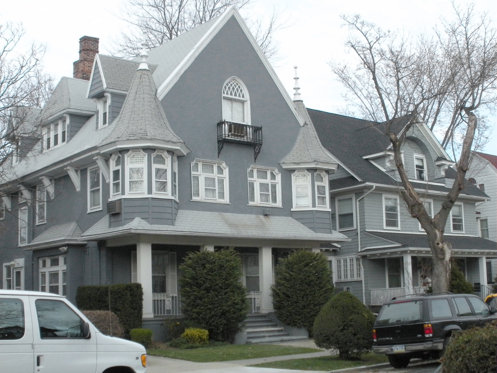 victorian era style houses in Ditmas Park, Brooklyn, New York