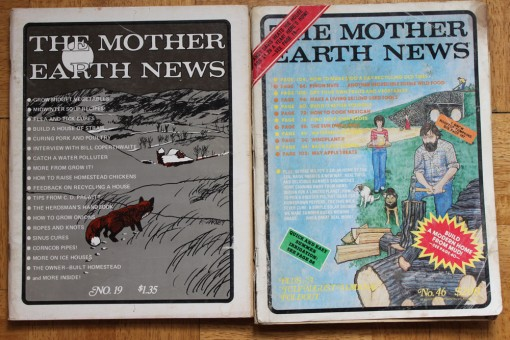 mother earth news vintage magazines, garbage find, design squish blog