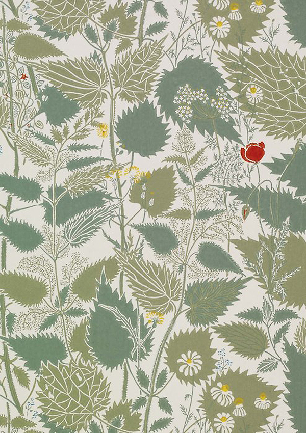 voysey print, herbs, krapiva, nettle, wild garden, design squish blog