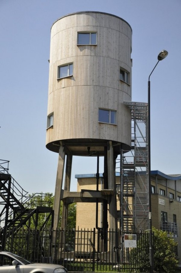 water tower redesigned into house, design squish blog