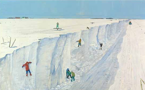 after blizzard in manitoba william kurelek