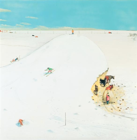 william kurelek snow mountain