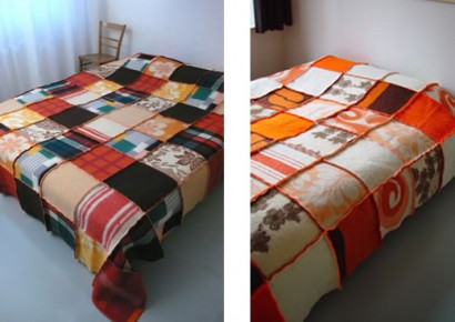 design squish blog, recycled wool quilts